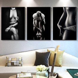 nude body painting Australia - Sexy Nude Women Body Figure Art Canvas Painting Wall Art Posters Prints Wall Pictures for Living Room Home Cuadros Decor