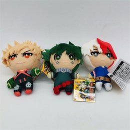 Wholesale heroes video games for sale – custom New CM My Hero Academia Bakugou Katsuki Todoroki Shoto Midoriya Izuku Plush Doll Pendant Keychain High Quality Gift Toy