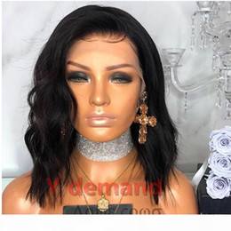 Discount wavy hairstyles short hair Short Kinky Curly Black Full Sexy Bob Wigs Hairstyle None Lace Synthetic Hair Wigs Afro Wavy For Black Woman In Stock