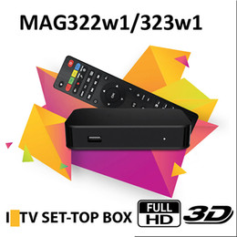 mag set top box Canada - MAG 322 w1 Build in Wifi Latest Linux 3.3 OS Set Top Box MAG322 HEVC H.265 Box Smart Media Player