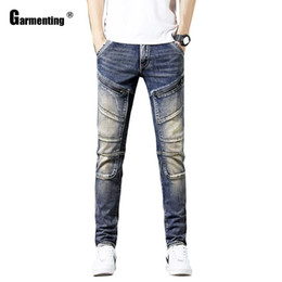 Wholesale japanese pants style resale online - Mens Jeans Hot Skinny Men Jeans Denim Pants New Patchwork Trousers Slim Bottom Male Japanese Kpop Style Hip hop Casual Men Jeans Pants