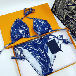 Sexy Swimwear For Women Bikini Set Summer Beachwear Bathing Suit Ladies Sports Swimwear Halter Push Up Bikini Set on Sale