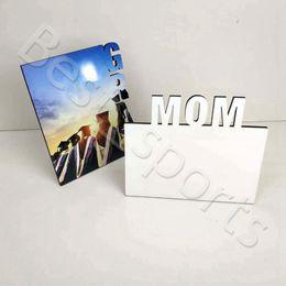 Sublimação em branco quadros de madeira transferência térmica placa de placa mãe personalizado frames de presentes festival do dia de mãe cyz2975 em Promoção