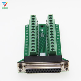 Wholesale signal board resale online - High Quality DB25 Female Pin Port Signals Breakout Board DB25 Female Pin Port Terminal Adapter Plate