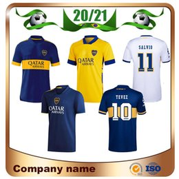 Wholesale white navy uniforms for sale - Group buy 2020 Boca Juniors DE ROSSI Soccer Jersey Home Tibet Navy Away yellow GAGO Soccer Shirts TEVEZ Benedetto Pavón football Uniform