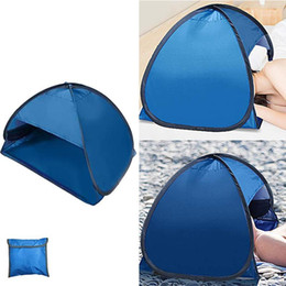 Wholesale Summer Beach Sunshade Tent UV-protecting Sunshelter Automatic Opened Portable Outdoor Camping Sunshade Tent with Storage bag1