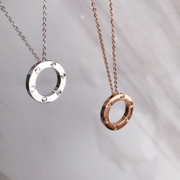 Wholesale new years nails for sale - Group buy Luxury New Year Stainless Steel Jewelry Ring Necklace Six Nails No Diamond Love Necklace Pendant Luxury Wild Fashion Perfect Two Colors