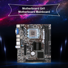 Jingsha Motherboard Mainboard Intel G41 Chipset SATA Port Socket LGA771   LGA775 DDR3 8GB for Windows 7   101 on Sale