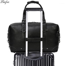 big handbags for travel 2021 - Luufan Genuine Leather Travel Bag For Man Vintage Leather Big Capacity Travel Duffel Male Business Handbag Carry On Lugg
