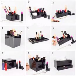 Классический акриловый макияж косметический держатель для рабочего стола зеркало зеркала инструменты помада ювелирные изделия хранения лотка коробка ткани для свадебной коробки на Распродаже
