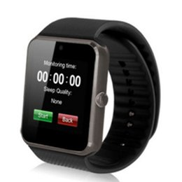 Wholesale GT08 Bluetooth Smartwatch Support SIM Card Dial Call Digital Watch with Camera HD Touch Screen Business Watch Free Shipping on Sale