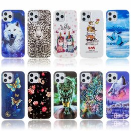 Wholesale cat case soft galaxy resale online - Luminous Soft TPU Case For Samsung Galaxy S21 Ultra S21 Plus S21 A42 G Butterfly Flower Lace Cat Leopard Wolf Tiger Glow In Dark Back Cover