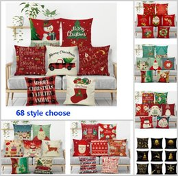 caisse de hiboux achat en gros de-news_sitemap_home68 Design Coussin d oreiller de Noël Couverture Santa Claus Revine Owl Tree Housses de coussin imprimé House Decor Décoration HH7