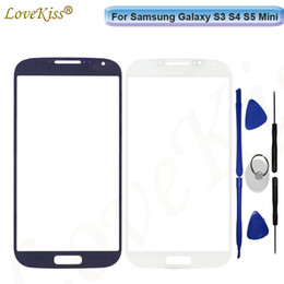 Wholesale galaxy s3 covers for sale - Group buy For Samsung Galaxy S3 S4 S5 Mini i8190 i9190 G900 Touch Screen LCD Display Front Outer Glass Panel Lens Cover Repair Replacement