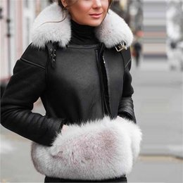 real furs for 2021 - Maylofuer Genuine Sheepskin Leather Jacket Women Real and Natural Fox Coat Slim Full Pelt Fur Coats for Winter Y201001