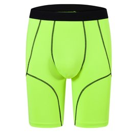 Wholesale training boxers resale online - 2020new Men s Sports Casual Underwear Solid Long Boxers Shorts Mid Rise Youth Teen s Training Trunks