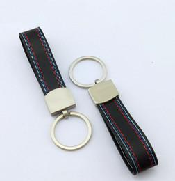 Wholesale Fashoin Metal+Leather Car Keychain Key Chain Key Ring Keyring For BMW M Tech M Sport M3 M5 X1 X3 E46 E39 E60 F30 E90 F10 F30 E36