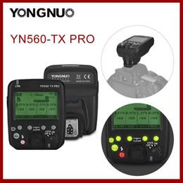 Lampeggia YONGNUO YN560-TX Pro Trasmettitore wireless per fotocamera YN862 YN968 YN200 YN560 SPEEDLITE TX 2.4G Flash Trigger1 in Offerta