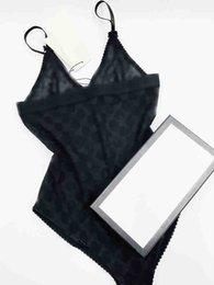 venda por atacado 20ss italiano biquíni primavera verão novo sleepwear jacquard letras duplas imprimir mulheres swimwear tops de alta qualidade biquíni arco-íris