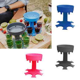 Wholesale game drinks resale online - 6 Shot Glass Dispenser Holder Wine Whisky Beer Dispenser Rack Bar Accessories Dispenser Party Games Drinking Bar Tools CCA12655 SEA SHIPPING