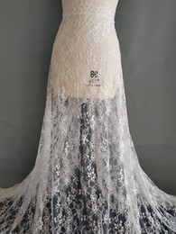 Wholesale White french lace fabric wedding dress gauze clothing decoration materials DIY accessories ML01