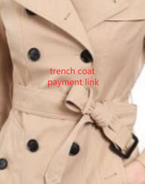 Wholesale trench red women for sale - Group buy CLASSIC women fashion England middle long trench coat high quality brand design double breasted trench coat size S XXL colors