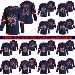Опт Нью-Йорк Рейнджерс Джерси 2020-21 Реверс Ретро 13 Алексис Lafreniere 24 Капо Какко 10 Artemi Panarin 93 Zibanejad 23 Fox Hockey Jersey