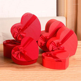 christmas hat boxes 2021 - Florist Hat Boxes Red Heart Shaped Candy Boxes Set of 3 Gift Box Packaging for Gifts Christmas Flowers Gifts Living Vase