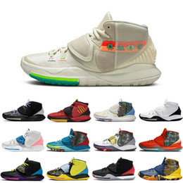 piscinas desportivas venda por atacado-2020 Ásia Irving Homens Sapatos Baskteball EUA Shot Clock N7 Piscina Neon Graffiti Bruce Lee Mens Trainers Sports Sneakers