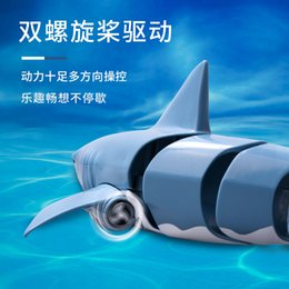 kids submarine toy Canada - 2.4G RC ship toys Terror Remote control Shark 4-channel Simulation of a shark 2021 hot sell kid toys gift of the child