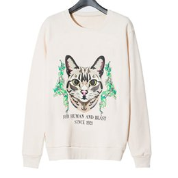 Jacket 2020 Inverno Top Quality Super Macio Sweashirts Homens Mulheres pulôver manga comprida Hip Hop Cat Sweat Shirt Fashion Stylist Mens Sweatshirt