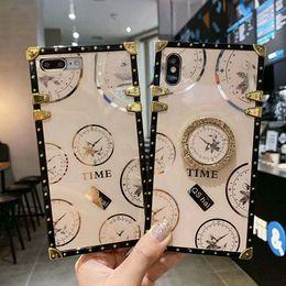 venda por atacado Caso de telefone quadrado clássico de luxo para iphone 12 mini 11 pro máx x xs xr se 7 8 plus para samsung nota 20ultra a71 a51 5g a31 a21 a21s a11
