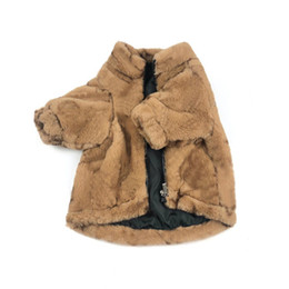 Wholesale fur costumes for sale - Group buy Winter Thicken Fur Bulldog Coats INS Fashion Flora Pattern Pets Jackets Christmas Day Gift for Teddy Bichon Outerwears
