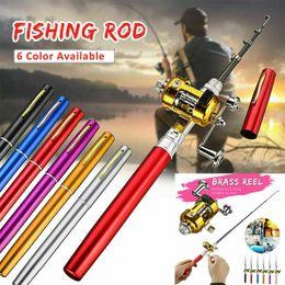Portable Mini Rod Reel Pocket Fishing Pole Telescopic Fishing Rod Spinning Kit