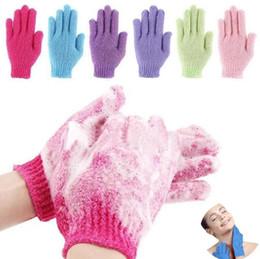 Skin Bath Shower Wash Cloth Shower Scrubber Back Scrub Exfoliating Body Massage Sponge Bath Gloves Moisturizing Spa Skin Cloth FY7324 on Sale