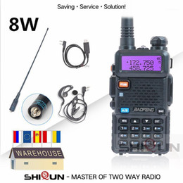 Wholesale Baofeng 8W UV-5R Walkie Talkie 10 km UHF VHF Baofeng uv5r Radio Tri-Power Band High Middle Low uv 5r UV-9R UV-82 UV-8HX1