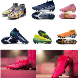 ingrosso cime di laboratorio-2020 Mens Scarpe da calcio Mercurial Future Lab Elite CR7 Calcio Soccer Tacchetti Superfly Elite SE Stivali da calcio Ronaldo Neymar Top originale