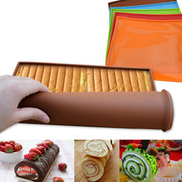 Wholesale Non Stick Silicone Roll Mat Cake Pad Multi-functional Non-Stick Baking Oven Tray Pan Kitchen Bakeware Mold Baking Tools with fast shipment