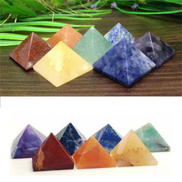 Wholesale Pyramid Natural Stone Crystal Healing Wicca Spirituality Carvings Stone Craft Square Quartz Turquoise Gemstone Carnelian Jewelry