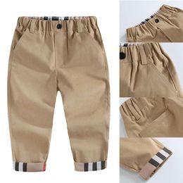 2020 Moda Trend Spring Children Boys Brand Plaid Pantalones Casual Otoño Infantil Niños Ropa Alta Calidad Recién Nacido Bebé Pantalones deportivos A001 en venta