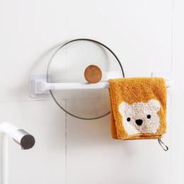 Venta al por mayor de Humedad A prueba de toallas Barras de baño tranquilo Rack de baño 1 Capa Remesa extraíble PP Rails Largo corto negro Blanco 4YHA L2