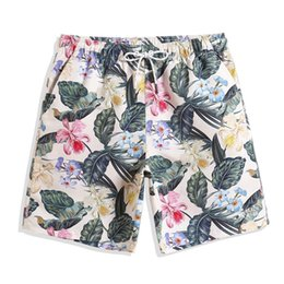 floral board shorts Canada - Brand Mens Beach flower print Board shorts swimming suit surfing Trunks Quick Dry Swimsuit Bathing Suit Y1209