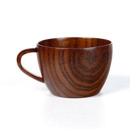 Wholesale Wooden Cup Wood Coffee Tea Beer wine Juice Milk Water Mug Handmade business Gift Drinking Cup EEA29