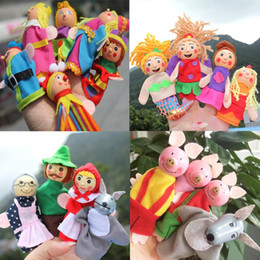 educational puppets 2021 - Baby Toys Little Red Riding Hood Christmas Animal Finger Puppet toy Educational Toys Storytelling Doll Hand Puppets Drop Ship
