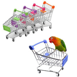 Creative Mini Children Handcart Simulation Bird Parrot Hamster Toy Small Supermarket Shopping Cart Play House Toys on Sale