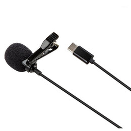 android phone microphone UK - Type C Mini Lavalier Microphone, for Android System TYPE-C Interface Mobile Phone Computer K Song Recording Microphone1