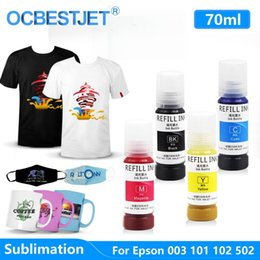 003 Tinta de sublimação para ET-2700 ET-2750 L4150 ET-3750 L4160 L6160 L6170 L6176 L6190 L3110 L3150 L5190 Impressora EcoTank em Promoção