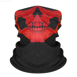 full face riding mask Australia - Bandana Riding Bandanas Tube Bib Skull Face Printed Neck Seamless Mask Headscarf Hip Headscarves Sport Magic Hop Headband Csqlu