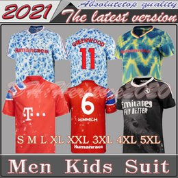 x xxxl al por mayor-20 Arsen Manchester Cavani United Utd Bayern Munich X Pharrell Williams HumanRace Real Madrid Fútbol Jerseys Especial Camisa de Jersey