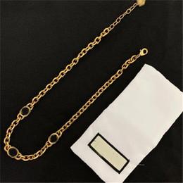Vintage Briefkette Halskette Marke Alphabet Ohrringe Frauen Europa Amerika Armband High Version Strass Ohrringe Kette Choker Halskette im Angebot
